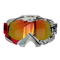 GOGGLE RIDE  R-1016 ESTAMPADO ROJO